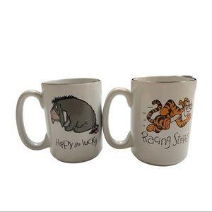 Disney Tigger And Eeyore 2-total Cofee Mugs